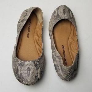Lucky Brand Shoes - Lucky Brand Emmie Snakeskin Ballet Flats